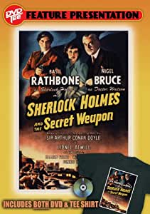 Sherlock Holmes and the Secret Weapon (+ Tee Shirt, Size L)