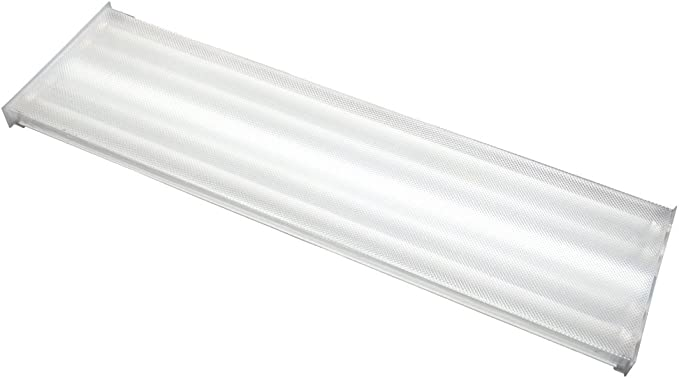 Orilis 96W 4 Ft Wraparound Flush Mount Hardwired Fixture- 24W LED T8 6500k 4
