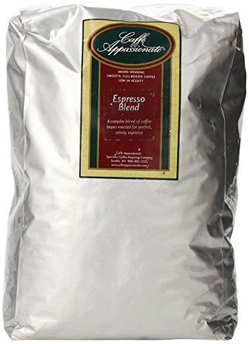 Caffe Appassionato Espresso Roast Whole Bean Coffee, 5-Pound Bags