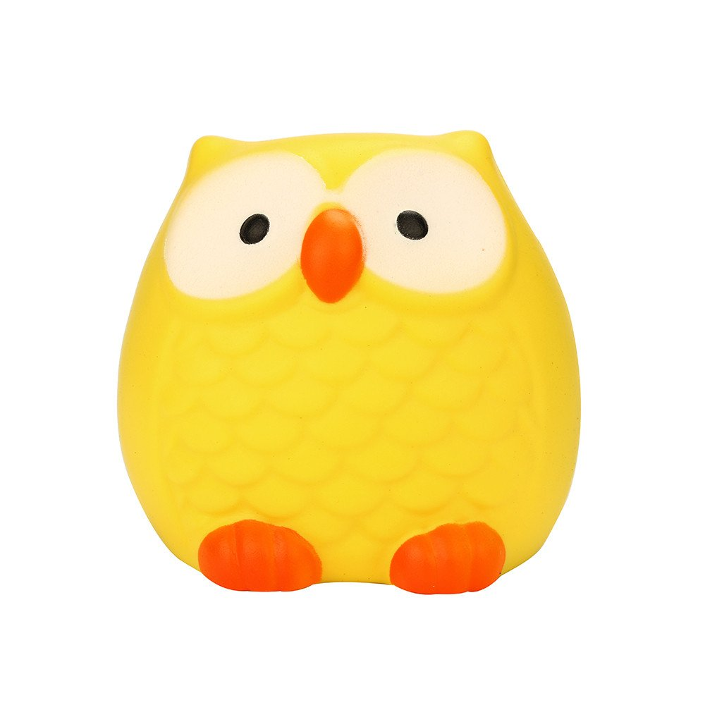 1pc Soft Cute Kawaii Owl Big Anti Stress Toy Slow Rising For Children Adults Relieves Stress Anxiety Birthday Bifts Novelty & Gag Toys Toys & Hobbies