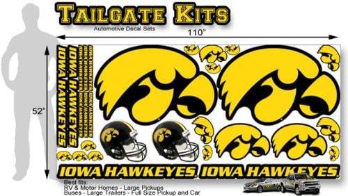 Amazon com: Iowa Hawkeyes HUGE Size Decal Tailgate Kit