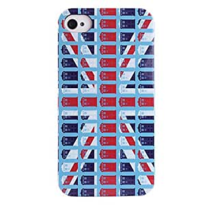 SHOUJIKE Telephone Booth The British Flag ABS Back Case for iPhone 4/4S