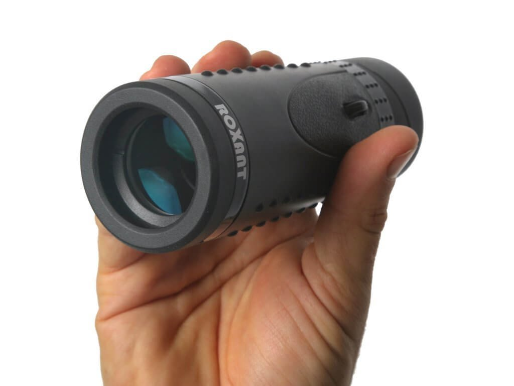 Authentic ROXANT Grip Scope High Definition Wide View Monocular - with Retractable Eyepiece and Fully Multi Coated Optical Glass Lens + BAK4 Prism. Comes with Cleaning Cloth, Case & Neck Strap. by ROXANT