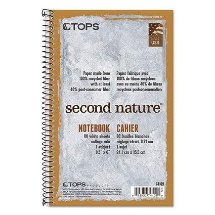 De ordenador portátil o Nature grado, universidad cuaderno de, de material reciclado, 80