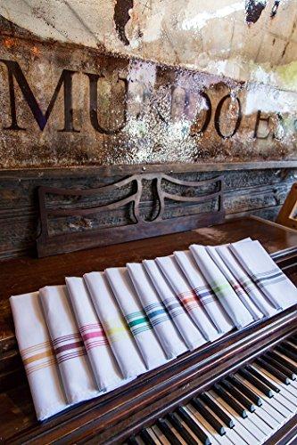Carlisle 53771822NH052 Restaurant Quality Cloth Dinner/Bistro Napkins, 18'' x 22'', Purple Stripe (Pack of 12) by Carlisle (Image #6)