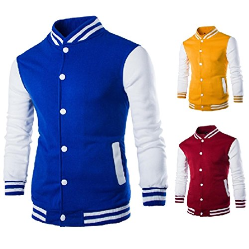 Autumn 2017 Eight-Color Baseball Shirt Men's Cardigan Jacket Slim Short Baseball Collar Pull Sweater W868 Red wine XXL (Wine Dropshippers)