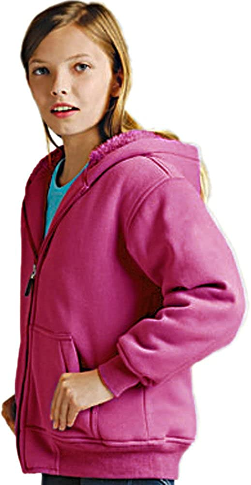 Big Boys and Girls Poly Fleece Hoodie Jacket with baby Sherpa lining K1179