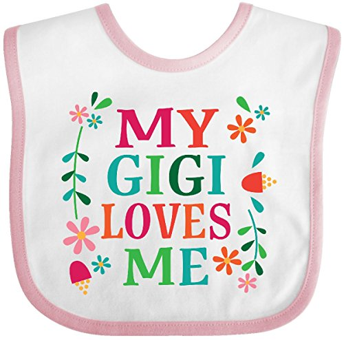 Inktastic - My Gigi Loves Me Girls Gift Apparel Baby Bib White/Pink 2c78e