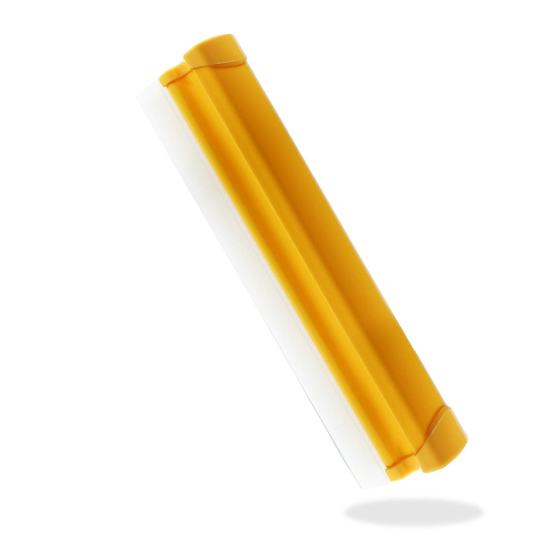 Silicone Squeegee Dual Soft Blades Wipes off Tiles Mirrors Shower Doors Windows and Cars 11.6 inch Yellow by Rain God