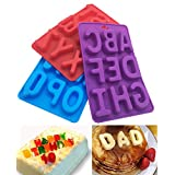 3Pcs/Set Of 26 Capital Letters DIY Mold Silicone Handmade Cake Decoration Chocolate Ice Jelly Mould Tray