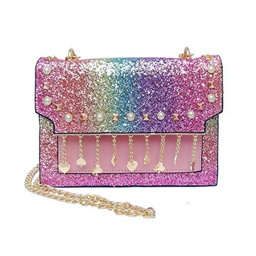 body Cross Multicolor LS for Bag Messenger Women's Gold Bags Handbags Women Shoulder Shining 4qxgp55