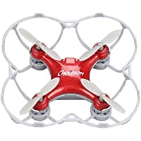 RC Mini Drone Cheerson Quadcopter Toy CS-10SE Remote Control Airplane Four Axis Aircraft Childrens Toy Airplane Model Smart Q Headless Aircraft with Built-in Battery (Red)