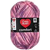 RED HEART Comfort Yarn, Shaded Rose Print