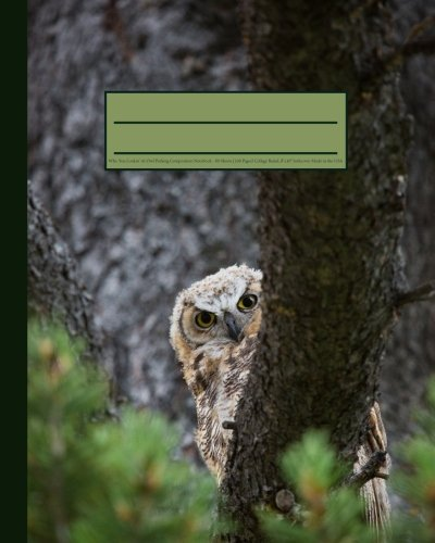 Who You Lookin' At Owl Peeking Composition Notebook: Funny & Cute Nature 160 Page Softcover Journal, College Ruled, 8