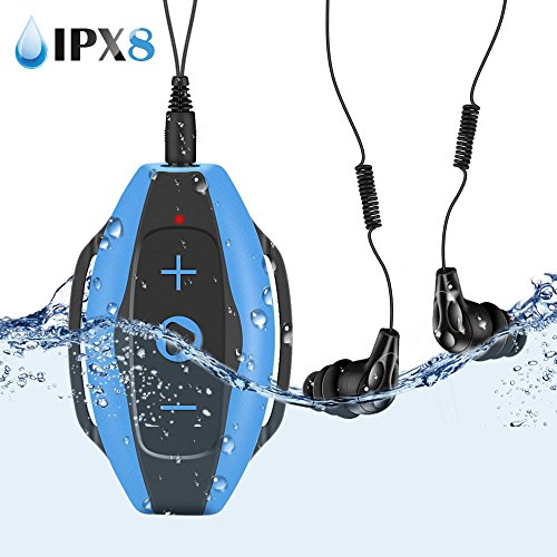 AGPTEK Swimming Mp3 Player 8gb with IPX8 Waterproof Headphones and...