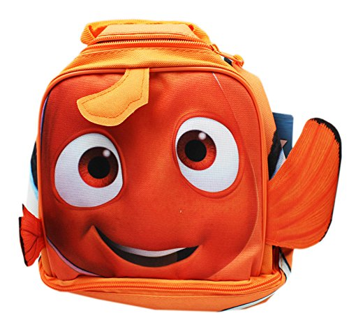 (Disney Pixar's Finding Dory Nemo Orange Colored Dual Level Lunch Bag )