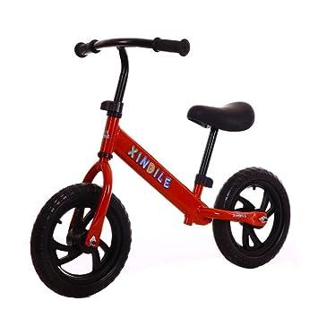 Hejok Equilibrio De La Bicicleta Roja - 12 Pulgadas Equilibrio De La Bicicleta, Equilibrio Deportivo para NiñOs del AutomóVil Sin Pedal Deslice El Bebé Scooter 2-6 AñOs 12 Pulgadas, Red: Amazon.es: Deportes