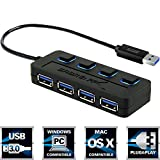 #4: Sabrent 4-Port USB 3.0 Hub with Individual Power Switches and LEDs (HB-UM43)