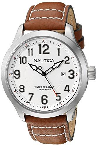 Nautica Men's NAD10005G NCC 01 Date Analog Display Analog Quartz Tan Watch