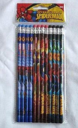 Marvel Ultimate Spiderman 12 Wood Pencils Pack Photo #3