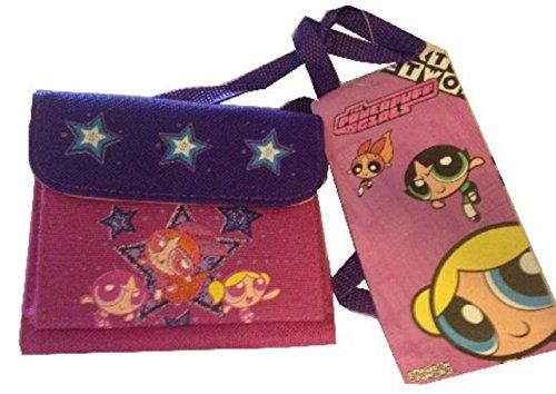 Powerpuff Girls Wallet Small Purse with Strap Purple