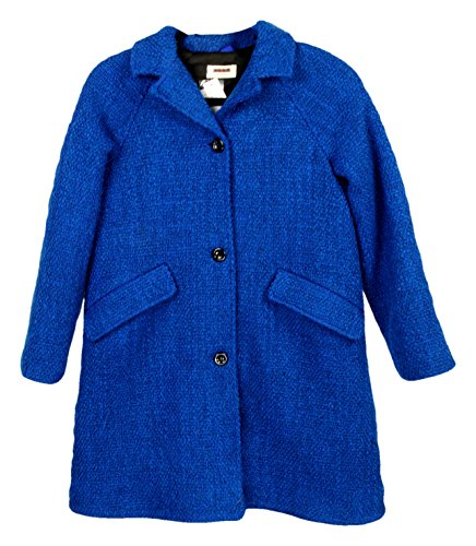 J Crew Girls' Maan Desir Tweed Coat Size Style# 05637 New Blue 12 by J.Crew Crewcuts