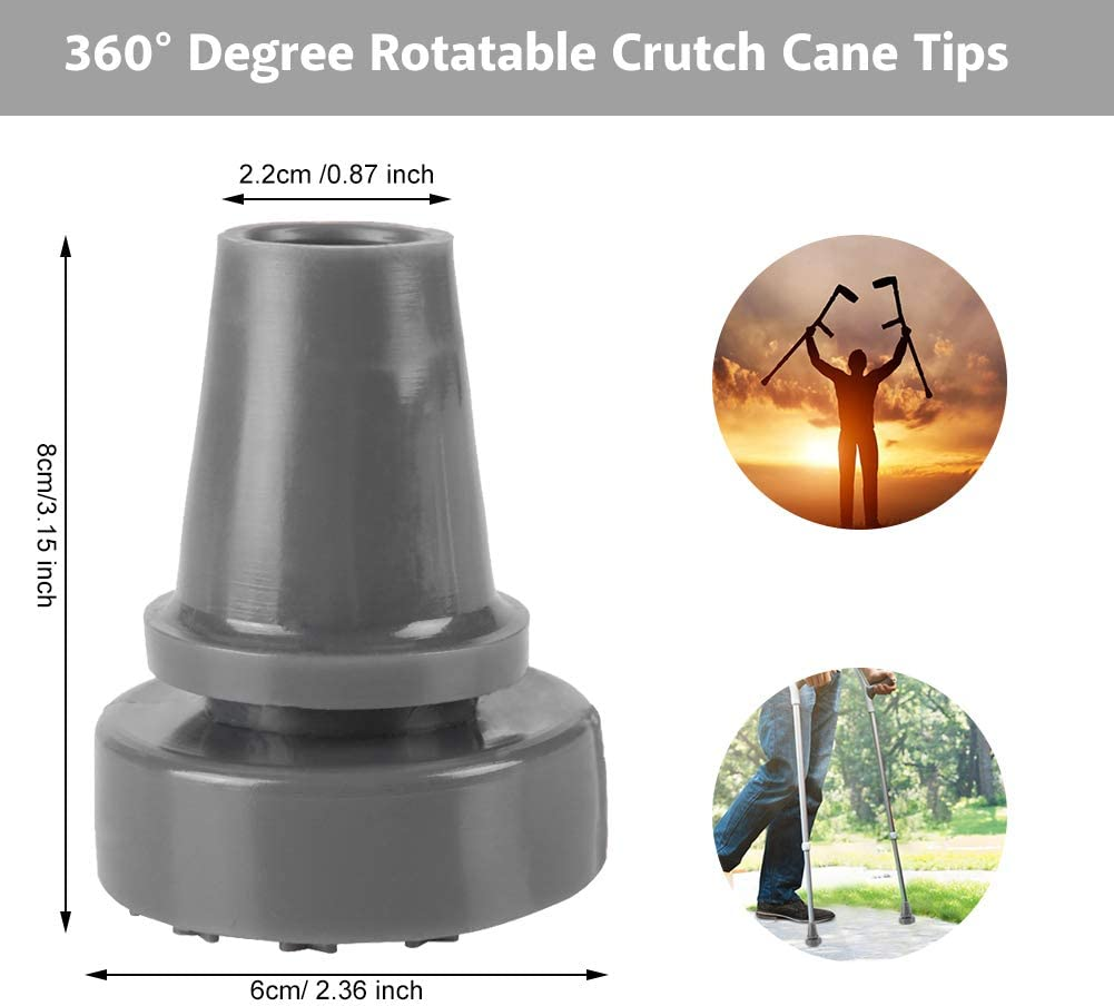 Hiking Walking Stick Tips Crutch Tip Replacement Camping Universal Head Ends YI