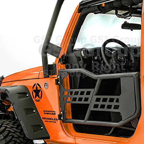 GSI Rock Crawler Off Road Tubular Door (2 door model) without Mirror Textured for 07-17 Jeep Wrangler JK