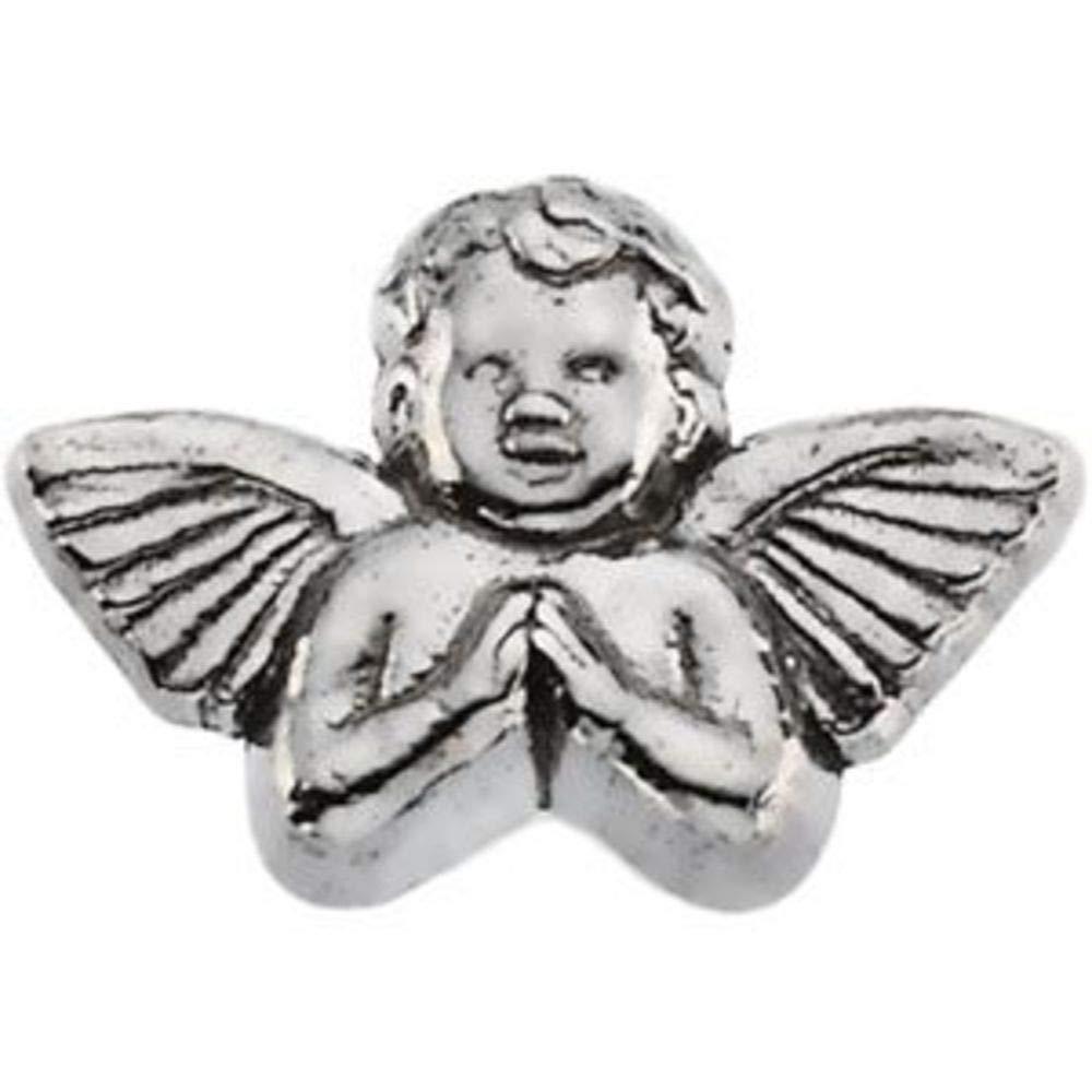 Bonyak Jewelry Angel Lapel Pin in 14k White Gold