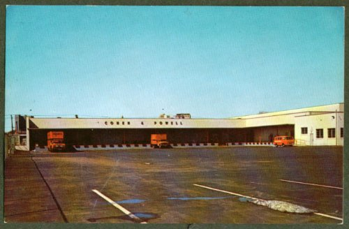 Cohen U0026 Powell Moving Storage New Haven CT Postcard 1960s