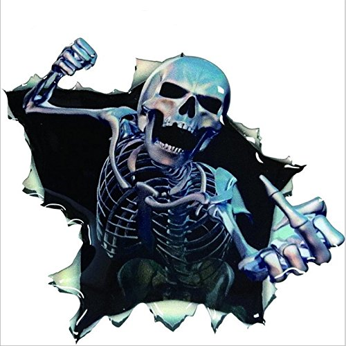 SKS Distribution/® Halloween Thriller Waterproof Car Styling Skeleton Sticker Skull Decal