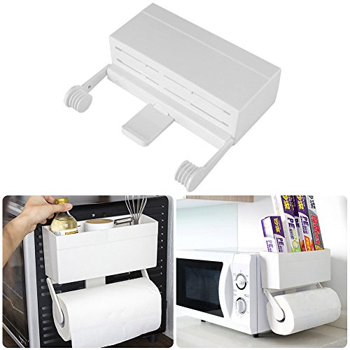 OKOKMALL US--Kitchen Cling Film Storage Rack Shelf Cutter Wall Mount Paper Towel Holder Cute by OKOKMALL US