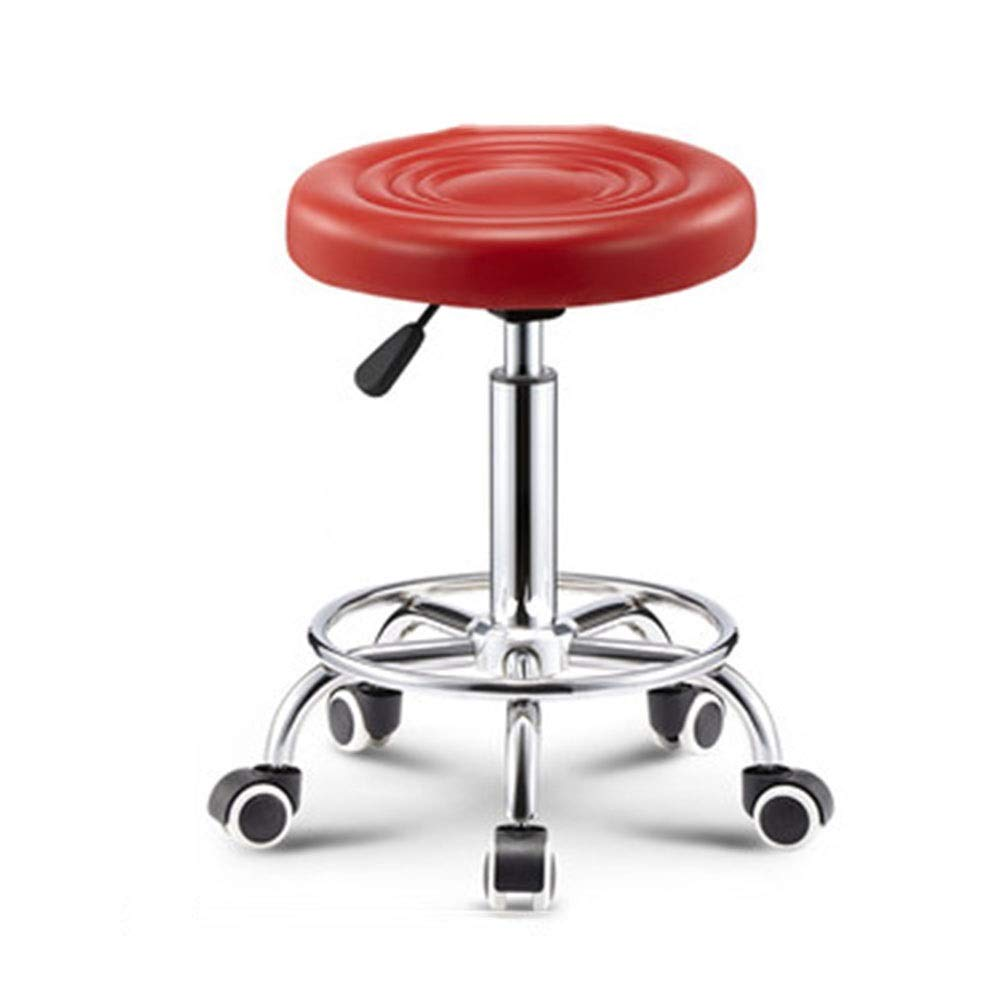 Red Bar Chair Lifting Bar Chair Creative Beauty Stool redating Home Backrest High Stool (color   Black)