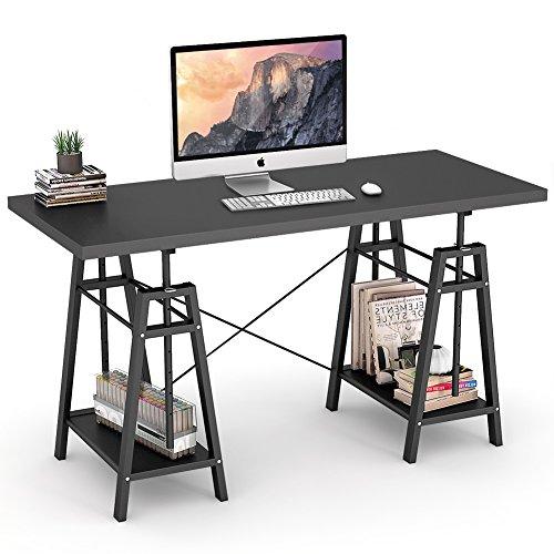 Wood Adjustable Height Computer - 9