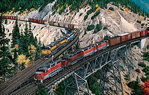(RAILROAD JIGSAW PUZZLE - Union Pacific & Western Pacific at Keddie Wye)