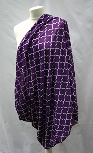 FANTASTIC VALUE! From Baby Needs Me. Reversible Two Colour Multi Use Breastfeeding Cover. A Cover For Baby And A Scarf For You! Available In Various Colours And Patterns With Contrasting Plain Reverse Purple/Lilac