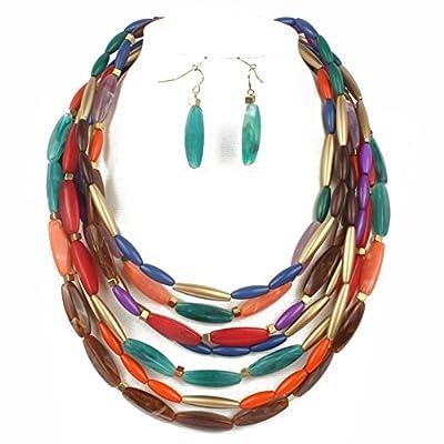KOSMOS-LI Strand Bead Fashion Necklace For Women Statement Jewelry