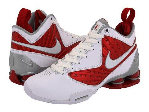 Nike Womens Basketball Shoes SHOX BB PRO White / Varsity Red / Silver SZ 8