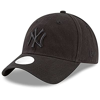 New York Yankees New Era Women's 9TWENTY Core Classic Twill Adjustable Hat Black