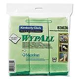 KIMBERLY-CLARK PROFESSIONAL* - WYPALL Cloths w/Microban, Microfiber 15 3/4 x 15 3/4, Green, 6/Pack 83630 (DMi PK