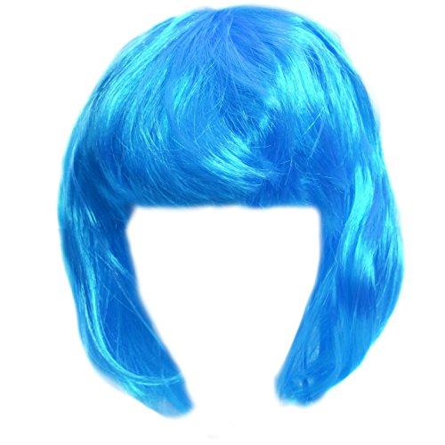 Blue Mod Wig - Mod Costume Wig In Bright (Bright Blue Wigs)