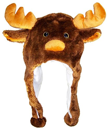 Best Winter Hats Adult/Teen Animal Character Ear Flap Beanie (One Size) - Moose]()