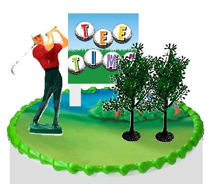 Price comparison product image Cake / Food / Cupcake Decoration Plant Tree Topper Picks with Plaque (Golf)