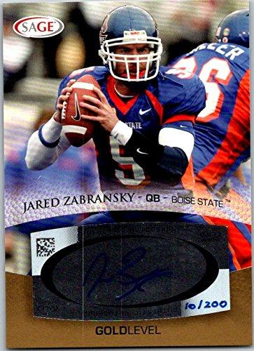 2007 SAGE Autograph Gold #A62 Jared Zabransky #10/200