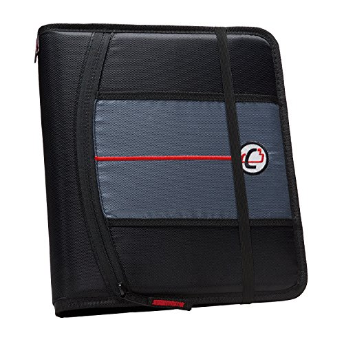 Case-it 1-Inch 3-Ring Binder, 5-Tab, 6-Pocket, Black (SLIM-621-FN-Blk) Blk Three Ring Binder