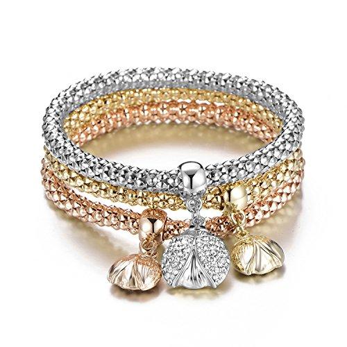 Ablaze Jin women jewelry corn chain shambhala bracelet beetle crystal diamond pendant bracelets,Tricolor