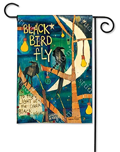 Magnet Works, Ltd. Blackbird BreezeArt Garden Flag ()