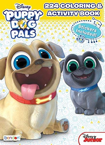Bendon Disney Junior Puppy Dog Pals 224-Page Coloring and Activity Book with Over 30 Stickers