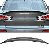 jdm mitsubishi lancer - Trunk Spoiler Fits 2008-2017 Mitsubishi Lancer and 2008-2015 Evolution EVO X 10 | Unpainted ABS Evo x 10 Mr Gsr Jdm Duckbill Rs Rear Spoiler by IKON MOTORSPORTS | 2009 2010 2011 2012 2013