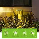Solar Lights Outdoor, Stainless Steel Waterproof